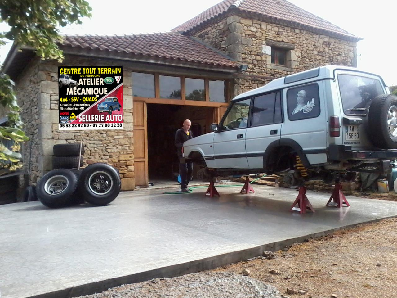 Atelier mecanique land rover for Ouvrir son garage mecanique